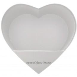 Cutie Inima Alba cu Stativ Pliabil 25 cm