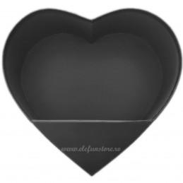 Cutie Inima Neagra cu Stativ Pliabil 25 cm
