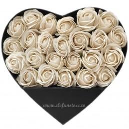 Cutie Inima Rosie cu Stativ Pliabil 25 cm