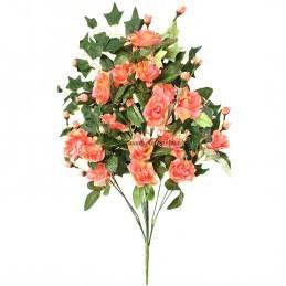 Buchet 16 fire trandafiri somon 75 cm