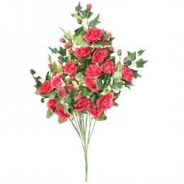 Buchet 16 fire trandafiri rosii 75 cm