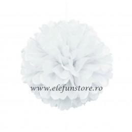 Floare Pom Pom Roz 40 cm