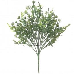 Buchet 7 crengute cu floricele verzi 34 cm