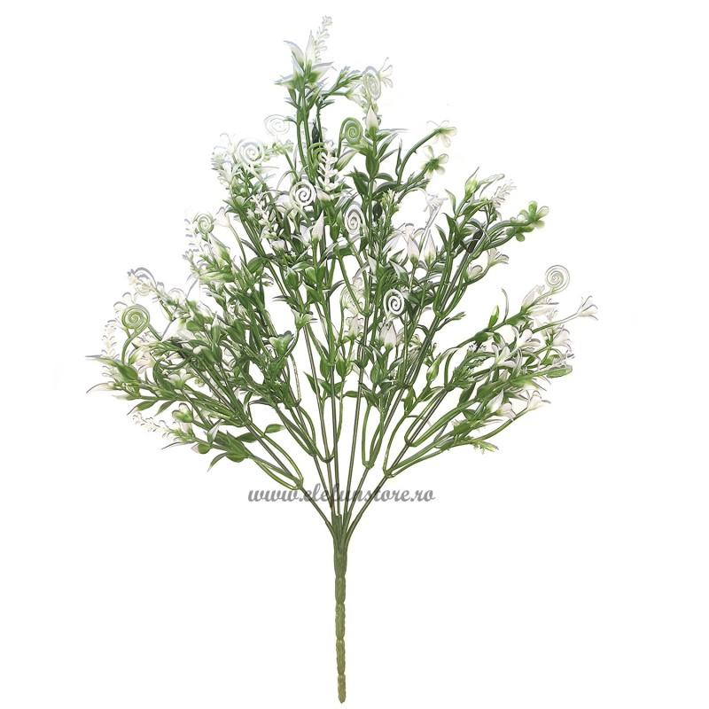 Buchet 7 crengute cu floricele albe 34 cm