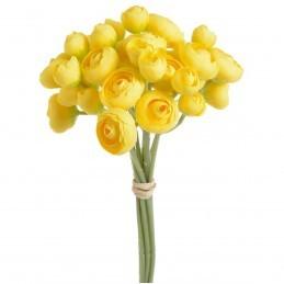 Set 9 fire trandafirasi galbeni buttercup 30cm