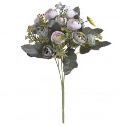 Buchet 12 ranunculus bleu si lila 30cm, 5 fire