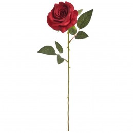 Trandafir artificial rosu 56 cm