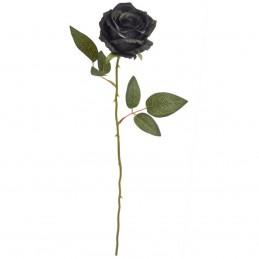 Trandafir artificial negru 56 cm