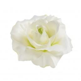 Cap trandafir artificial alb ondulat 10 cm