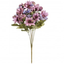 Buchet 9 fire 27 crizanteme roz si mov 44cm