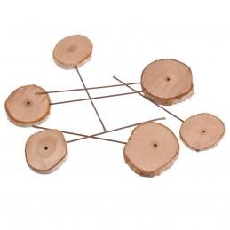 Set 18 felii de lemn pe bat, 14 cm