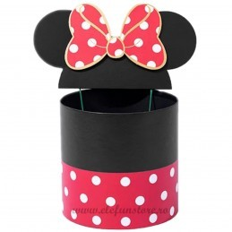 Set 3 cutii rosii cu urechi Minnie 19-17-15 cm