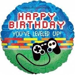 Balon Gaming Level up, Happy Birthday