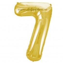 Balon Cifra 7 Auriu Slim 100 cm