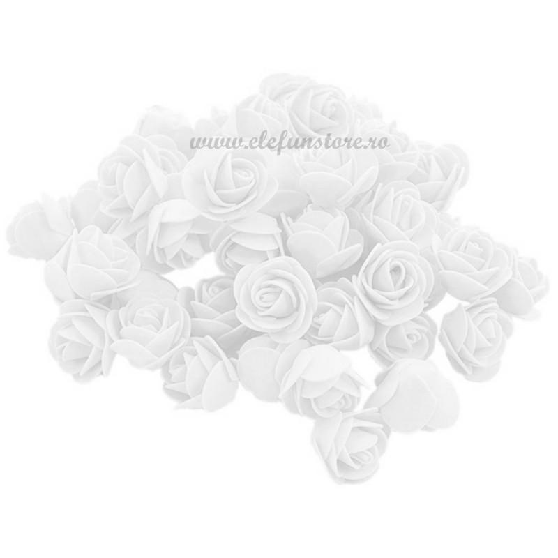 Set 500 trandafiri din spuma albi 4cm