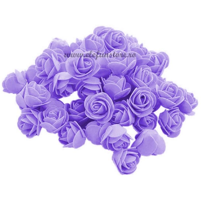 Set 500 trandafiri din spuma lila 4cm