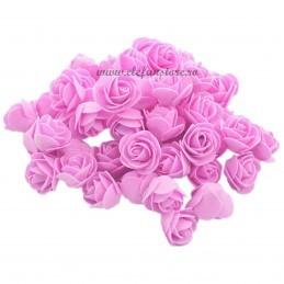 Set 500 trandafiri din spuma roz 4cm