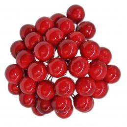 Set 100 Perle Rosii 10 mm, cu sarma