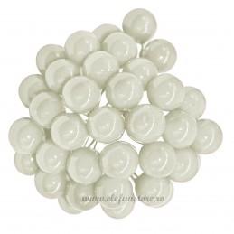 Set 100 Perle Albe 10 mm, cu sarma