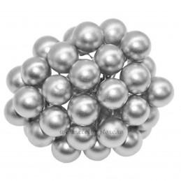 Set 100 Perle Argintii 20 mm, cu sarma