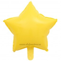 Balon Stea Galbena Macaron 45cm