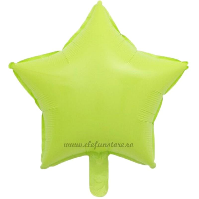 Balon Stea Verde Macaron 45cm