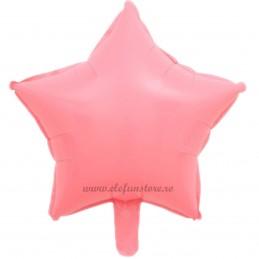 Balon Stea Roz Macaron 45cm