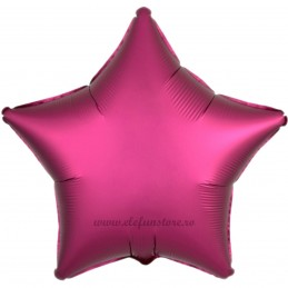Balon Stea Burgundy Satin 45cm