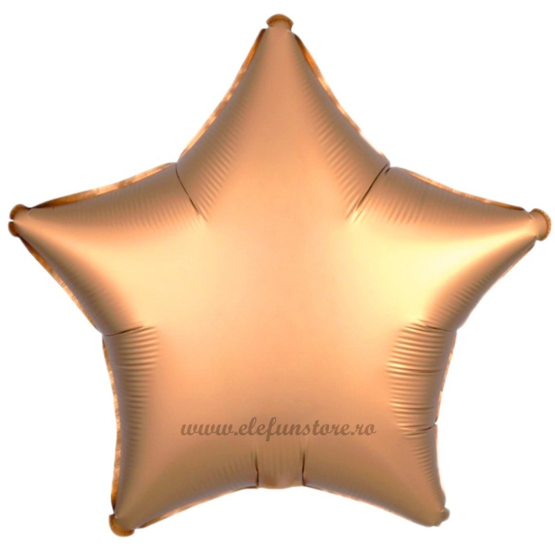 Balon Stea Rose Gold Satin 45cm