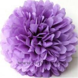 Floare Pom Pom Roz 25 cm