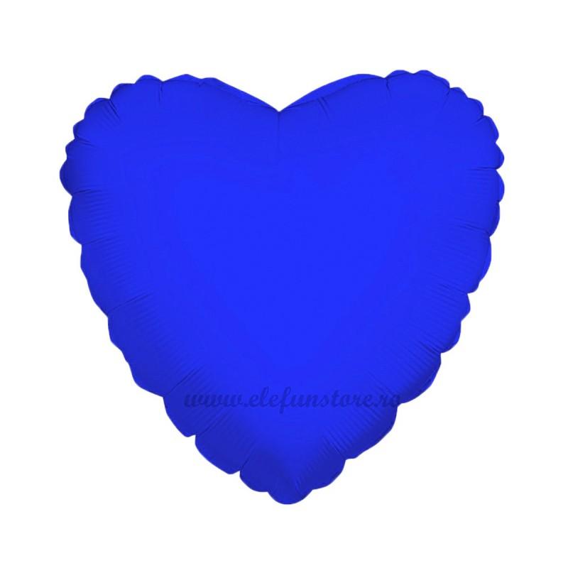Balon Inima 60 cm Albastru Metalizat