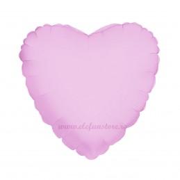 Balon Inima 60 cm Roz Metalizat