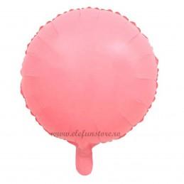 Balon Rotund Roz Macaron 45cm