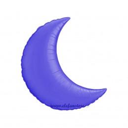 Balon Semiluna 45cm Albastru Metalizat