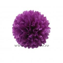 Floare Pom Pom Mov 30 cm