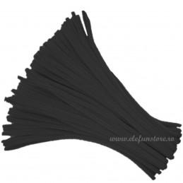 Set 100 Chenille - Sarma Plusata Neagra 30cm*5mm