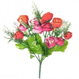 Buchet Mini Trandafirasi Roz, 5 fire 35 cm