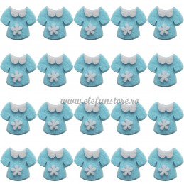 Set 20 Ornamente Bluzita Baietel Adezive 3.5 cm
