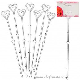 Set 10 betisoare inima cristal pt etichete 23 cm