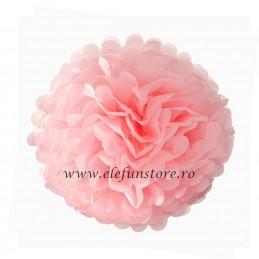 Floare Pom Pom Roz 50 cm
