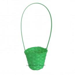 Cosulet din ratan verde D:8cm , H:25cm