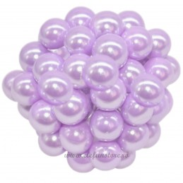 Set 100 Perle Lavanda 20 mm, cu sarma