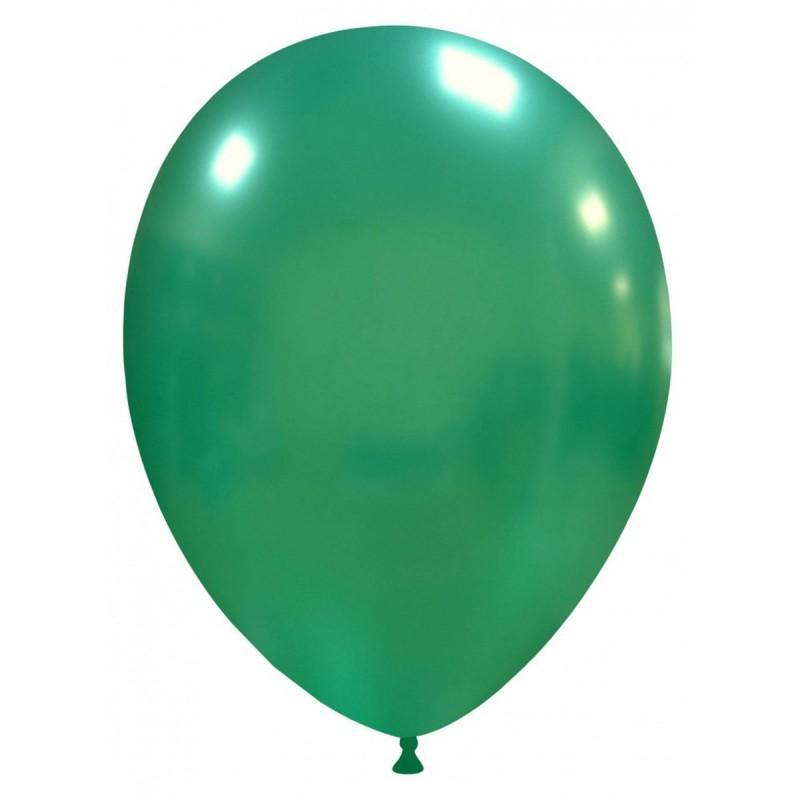 Set 100 Baloane Verde Inchis Metalizat 26 cm