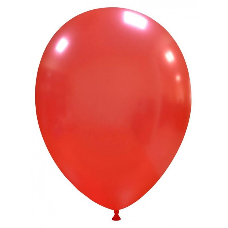 Set 100 Baloane Rosu Metalizat 26 cm