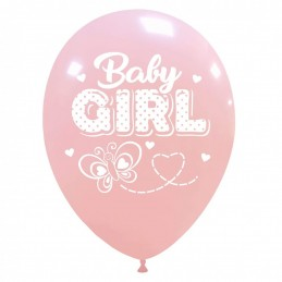 Set 10 baloane Baby Girl Fluturas