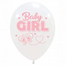 Set 10 baloane Baby Girl Fluturas