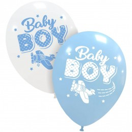 Set 10 baloane Baby Boy Aviator