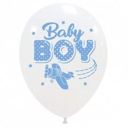 Set 10 baloane Baby Boy Aviator