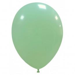 Set 100 Baloane Verde Menta Pastel 26 cm