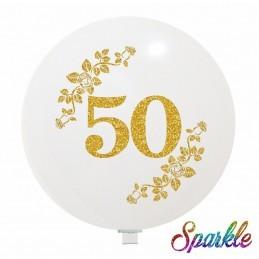 Balon Jumbo 50 cu sclipici auriu